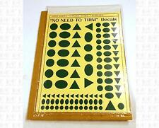Virnex HO Decals Circle Oval Triangle Logo Shapes Emerald Green 1988