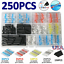 thumbnail 1 - 250PCS Solder Seal Sleeve Heat Shrink Wire Connectors Butt Terminals Waterproof