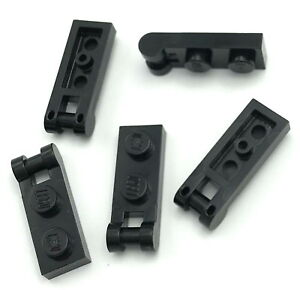 Lego 5 New Black Plates Modified 1 x 2 with Handles on Ends