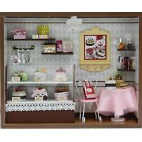 Diy Handcraft Wooden Miniature Project Kit Doll House Cake Shop Bakery Store