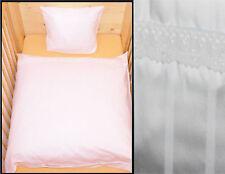 Bettwäsche 80x80 Baby Geburt Weiß Baumwolle Kinderwagen Muster Mädchen Junge