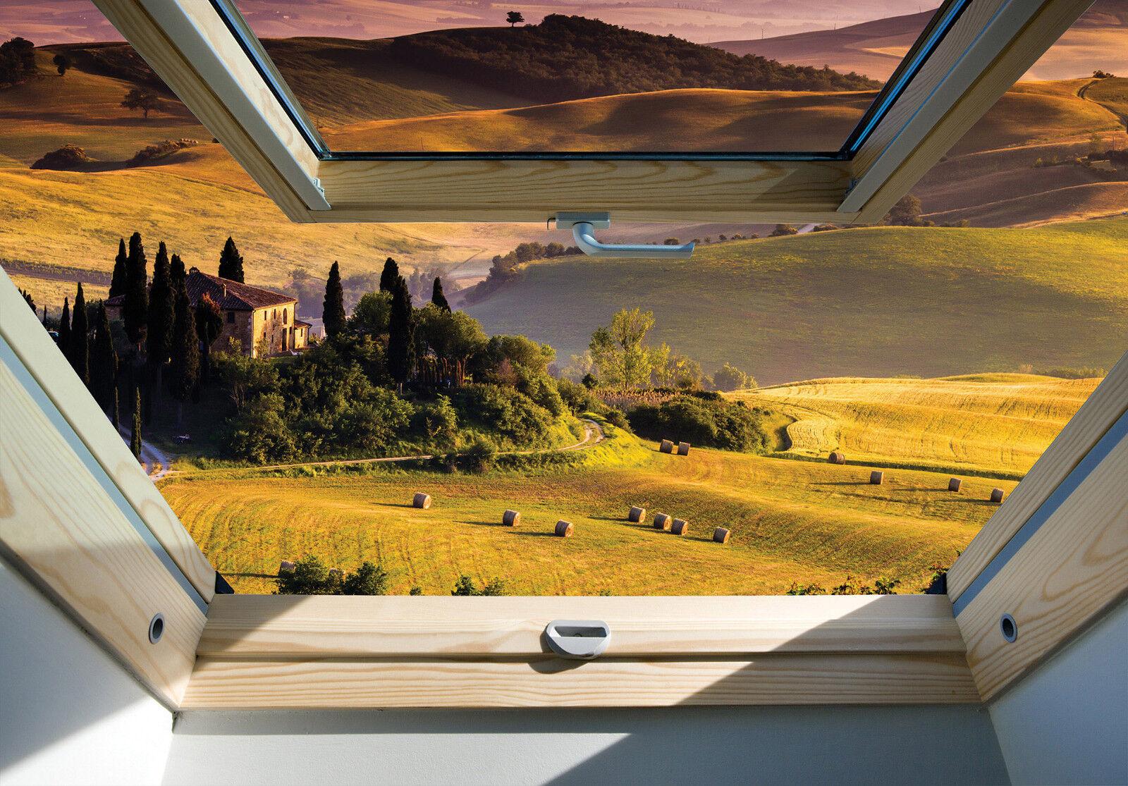 Fotomurale tessuto non tessuto-Toscana - (10411) - - - lucernaio Panorama Italia FATTORIA PRATO | diversità imballaggio  | Louis, in dettaglio  | Garanzia autentica  be9e8e