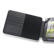Motorola Xoom Original Estuche De Cuero Con ranuras para tarjetas de negocios y papel-Negro