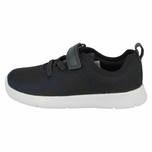 Childrens Clarks Ath Flux T Hook /& Loop Strap Casual Textile First Trainers