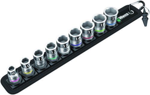 "Wera Tools Zyklop In-Hex HF Bit-Socket Set 3//8/"" 9pc Belt B 1"