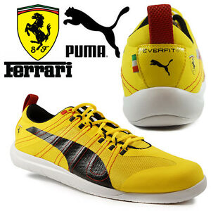PUMA-Ferrari-TECH-Everfit-10-Mens-Trainers-Motorsports-F1-Scuderia-Yellow-Shoes