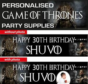 Game Of Thrones Birthday Party Banner Decorations Ebay