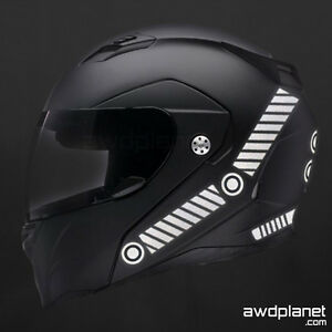 REFLECTIVE HELMET DECALS  PIECE SAFETY KIT BIKE MOTORCYCLE - Reflective motorcycle helmet decals