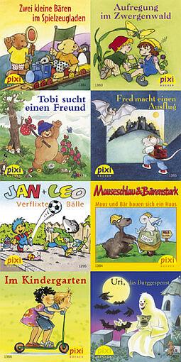 8 Pixi Bücher Pixis kunterbunte Bücherkiste Pixi Serie 155 + BONUS
