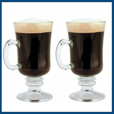 Set Of 2 Irish Coffee Cups Glasses 240ml Tall Quality Cappucino Latte Glass Mug 5010853129426 Ebay