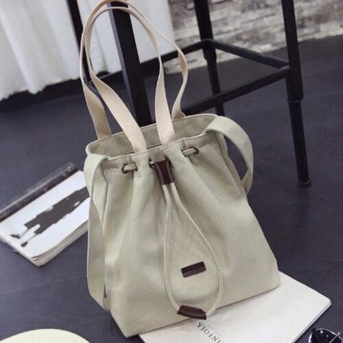 New Women/'s Canvas Black Handbag Shoulder Messenger Bag Satchel Tote Purse Bags