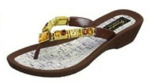GRANDCO SANDAL  GEM THONG BROWN SOLE size 7 And 9