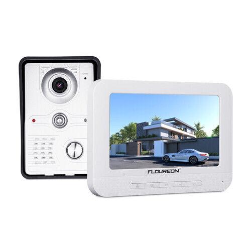 FLOUREON 7  LCD Wired Video Door Phone Doorbell Night Vision Outdoor Camera EU