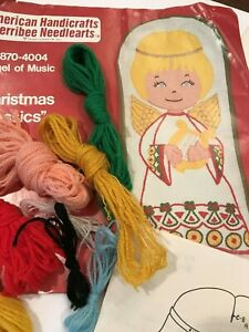 Vintage-Angel-Of-Music-By-America-Craft-Crewel-Craft-Kit-Free-Shipping-Christmas