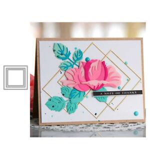 Stanzschablone-Quadrat-Rahmen-Hochzeit-Weihnachts-Oster-Geburstag-Karte-Album
