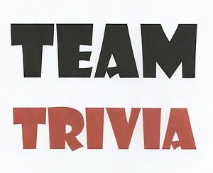Details about TEAM TRIVIA QUESTIONS -- complete 2-hour game updated weekly