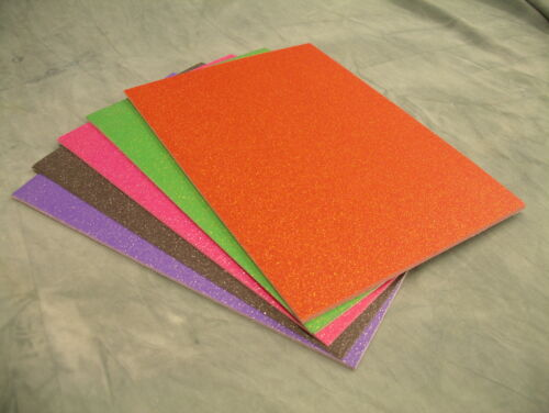 A4 Paillettes Carte couleurs diverses Soft Touch 10 Feuille PK