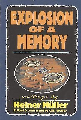 Explosion of a Memory Hardcover Heiner Muller