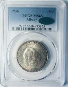 1936-Albany-Commemorative-Silver-Half-Dollar-PCGS-MS-65-Mint-State-65-CAC
