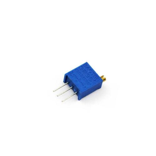 10PCS Nouveau 3296W-500 3296 W 50ohm Trim Pot Trimmer Potentiomètre
