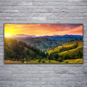 Leinwand-Bilder Wandbild Canvas Kunstdruck 120x60 Wald Natur