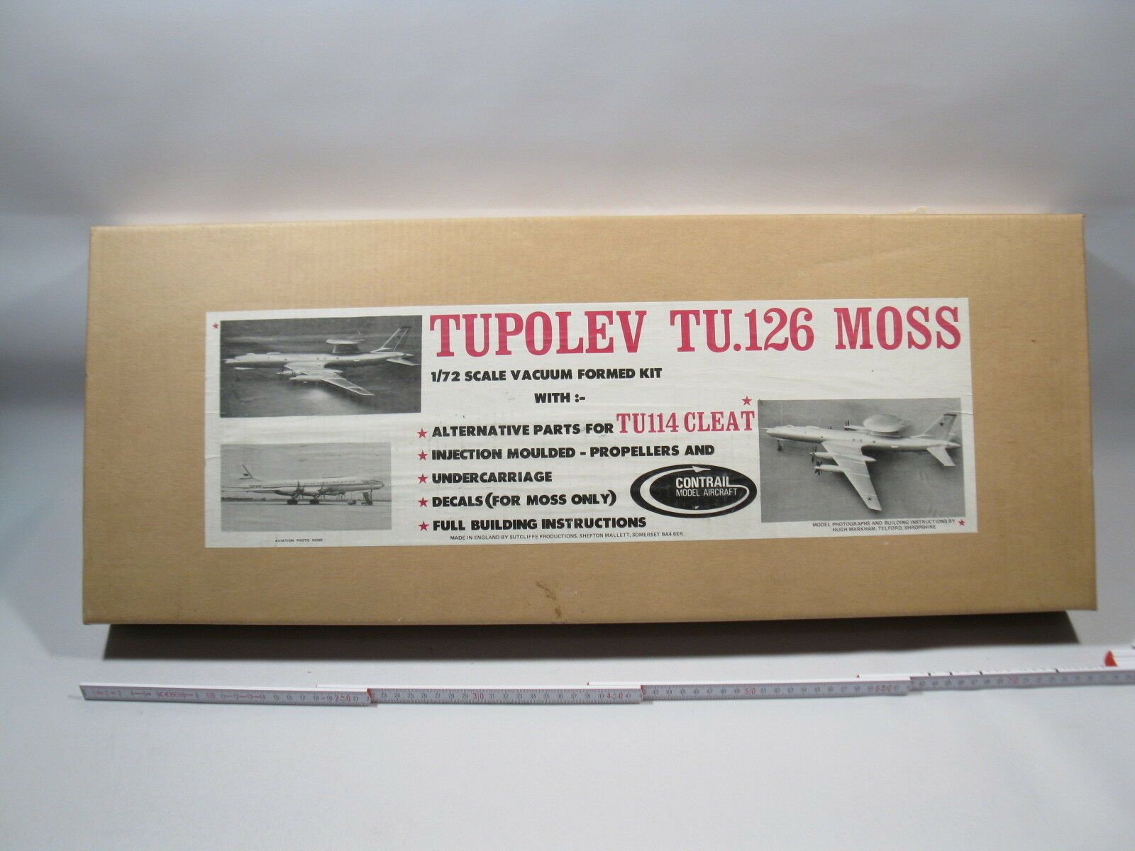 Contrail Model Tupolev TU 126 Moss 1 72 Vacuform Tiefziehteile lose in box m4325  | Nicht so teuer
