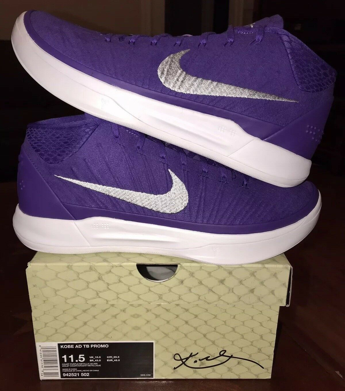 low priced 47457 5d737 Nike Kobe AD AD AD TB Promo Court Purple 11.5 11 XI Mid Basketball shoes 1