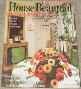 House Beautiful Magazine June 1968 Mid Century Modern Furnishings Decorating Ebay