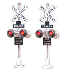 Tomar Industries H-862B HO 2 Railroad Crossing Signals LED's H862B modelrrsupply