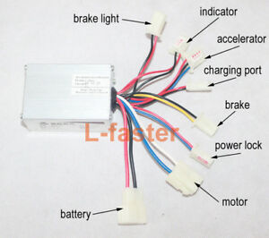 24v 250W Brushed Electric Motor Speed Controller Box Throttle Grips Scooter