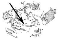 Air Conditioning,ac, Accumulator Hose,c4 Corvette,1985,86,87,5.7l