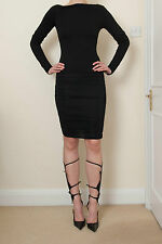 CELINE BODY-CONTOURING BLACK RUCHED SKIRT SIZE S - RRP £295