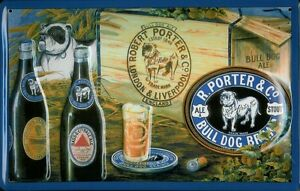 BULL-DOG-BREWERY-Vintage-Metal-Pub-Sign-3D-Embossed-Steel-Home-Bar