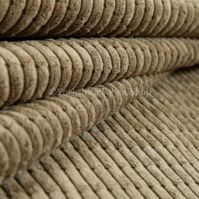 10 Meter Roll Of New Furnishing Upholstery Fabric Brick Effect Pattern Cord Mink