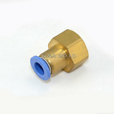 "Female 1/8""-1/2"" to 4-12mm Push in Fitting Pneumatic Push to Connect 15 Sizes"