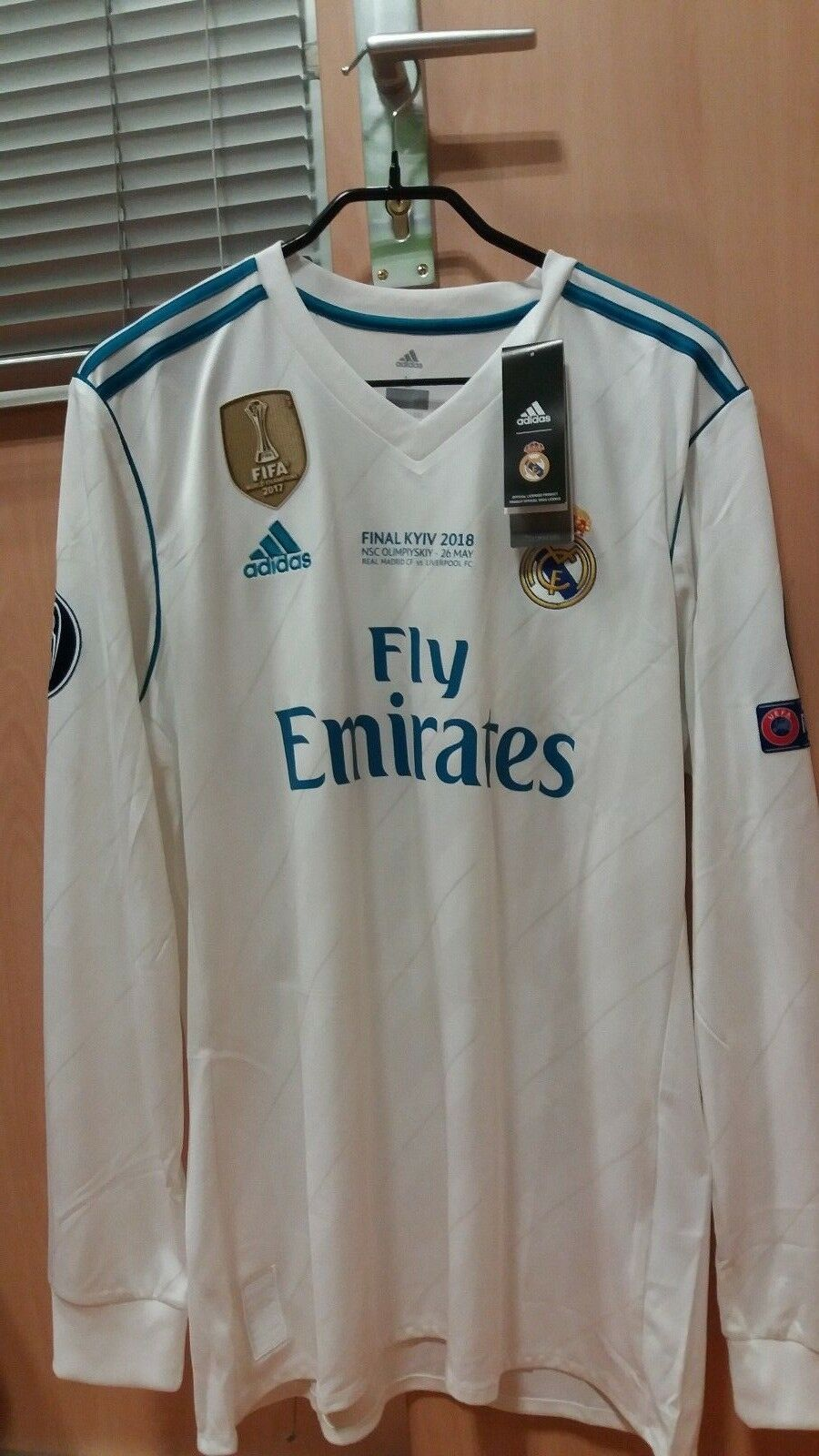 REAL MADRID 2018 FINAL CHAMPIONS LEAGUE SHIRT BALE ADIDAS