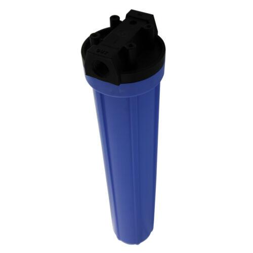 Pentek 150070 Standard Blue 20 x 2.5 Inch Water Filter Housing 3//4 FNPT