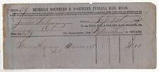1856 MICHIGAN SOUTHERN & NORTHERN INDIANA RAILROAD RR Trains TRAIN Document