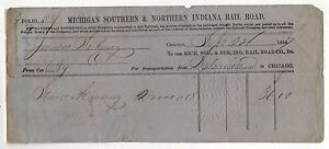 1856 Michigan Du Sud & Du Nord Indiana Chemin de Fer RR Trains Train Document mGMAxT7N-09152902-431862343