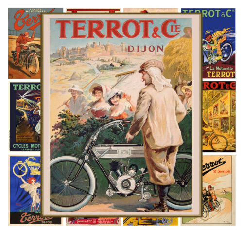 """Bike Moto Ads Terrot Vintage Advert MP541 Mini Posters 13 pages 8/""""x11/""""//A4"""