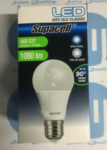 12w-75w-LED-GLS-CLASSIC-ES-E27-1080-Lumens-cool-White-Supacell