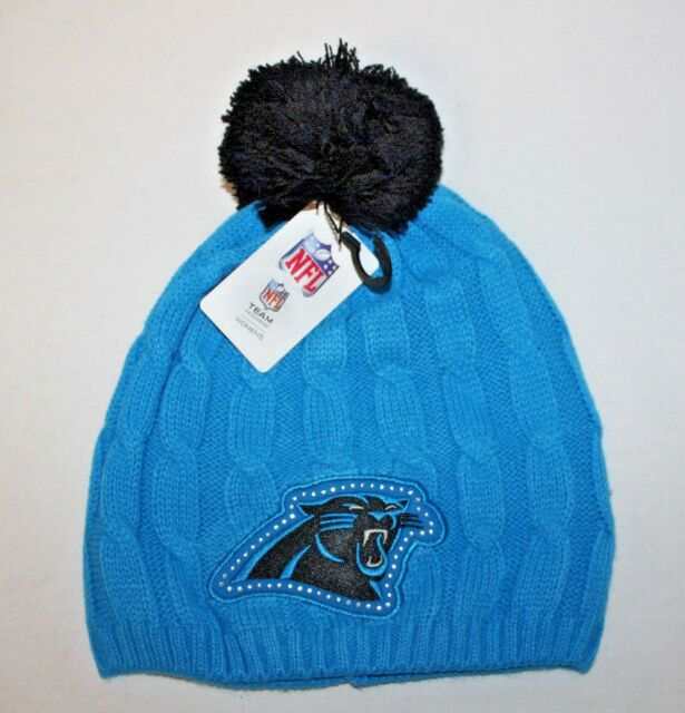 NFL Mass Rhino Glacier Blue Carolina Panthers Pom Beanie Hat WMN for ... 1ef44868b