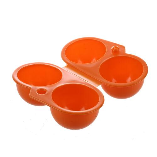 Plastik Faltbarer Aufbewahrungsbox 4 Ei-Halter Orange Q8H9 SODIAL R