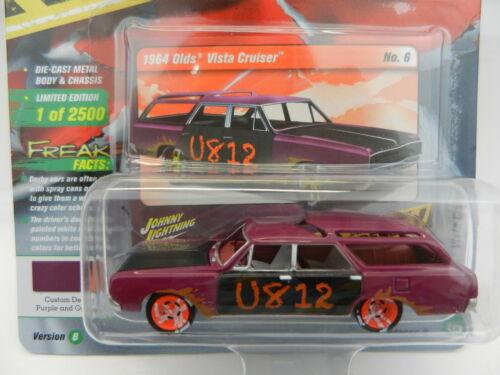 2018 Johnny Lightning STREET FREAKS 2B Purple 1964 Olds Vista WAGON DEMO DERBY