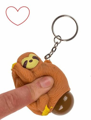 Nouveauté Jouets Squeeze Poo Sloth Porte-clé chaîne cadeau Bangers Caca