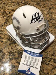 Richard-Dent-Signed-ICE-Alternate-Riddell-Mini-Helmet-Beckett-COA-W-Inscription