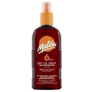 MALIBU-Olio-Secco-Spray-con-SPF6-200-ml-resistente-all-039-acqua-resistente-al-sudore-SUN-OLIO