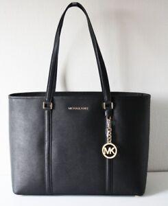 MICHAEL-KORS-TASCHE-BAG-Shopper-SADY-LG-MF-TZ-TOTE-black-schwarz-Leder