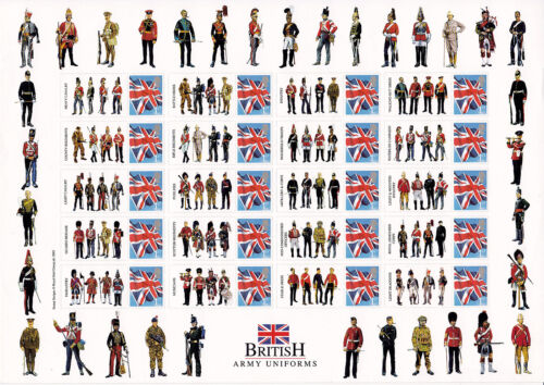 BC117 British Army Uniforms Smilers Stamp Sheet