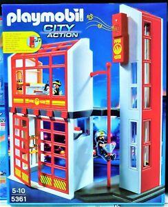 Playmobil 5361 Feuerwehrstation Mit Alarm Neu Und Ovp Ebay
